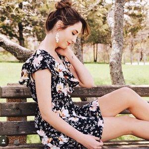 Beautiful Black Floral Summer Dress